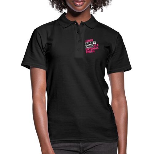 Ober-AFFEN-GEIL - Frauen Polo Shirt