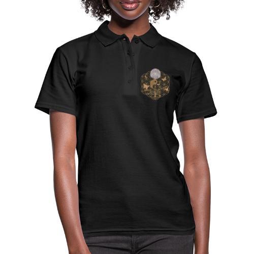 Das Leben umgeben von Energie. Blume des Lebens. - Frauen Polo Shirt