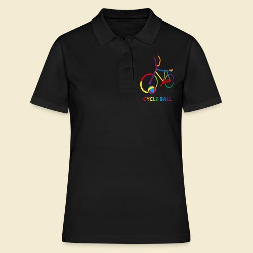 Radball | Cycle Ball Rainbow - Frauen Polo Shirt
