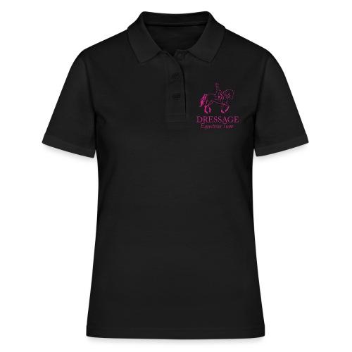 Dressursport Pferd und Reiterin Illustration - Frauen Polo Shirt