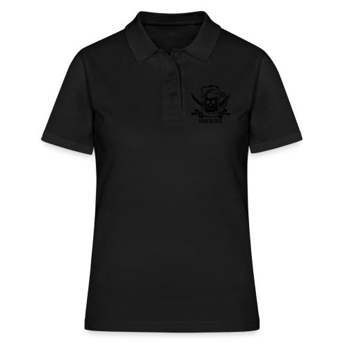 Bierat - black - Frauen Polo Shirt