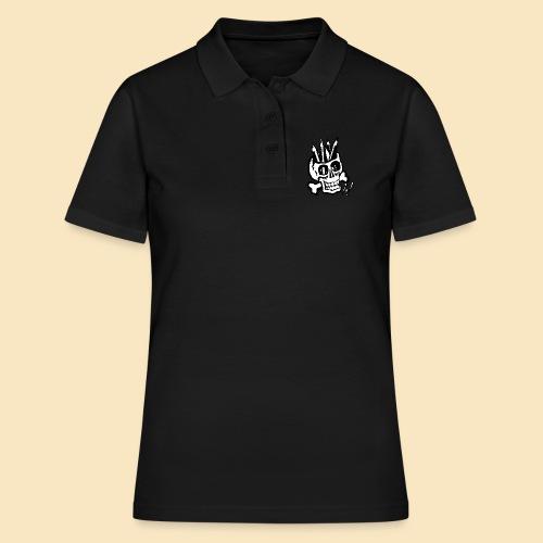 Pencilskull white - Frauen Polo Shirt