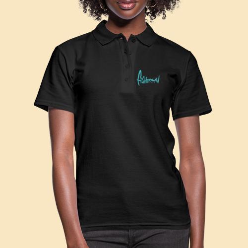 Fishtown 2850 handdrawn brightblue - Frauen Polo Shirt