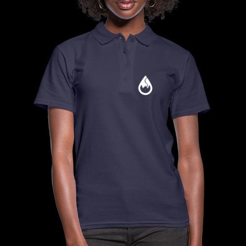 WS-Crew Tropfen-Logo weiß - Frauen Polo Shirt