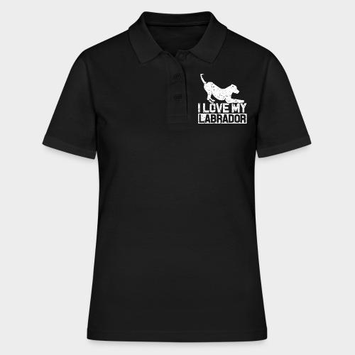 I LOVE MY LABRADOR - Frauen Polo Shirt