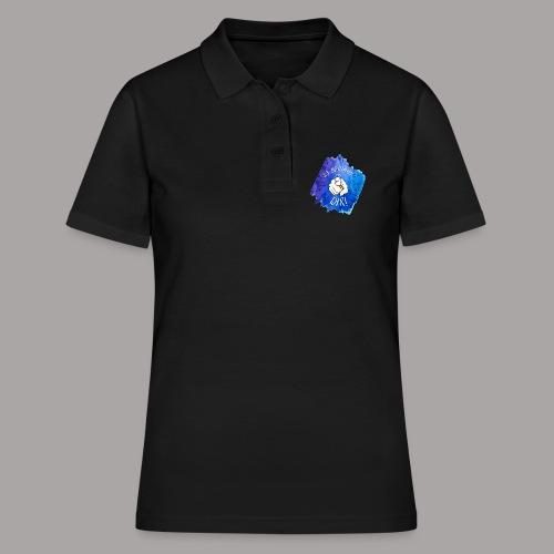 shirt blau tshirt druck - Frauen Polo Shirt