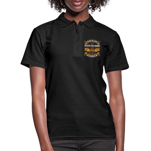 Dichter und Denker | lustig humor Geburstag spaß - Frauen Polo Shirt