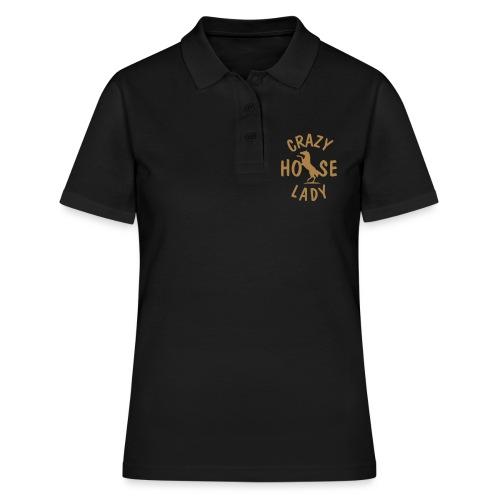 Vorschau: crazy horse lady - Frauen Polo Shirt