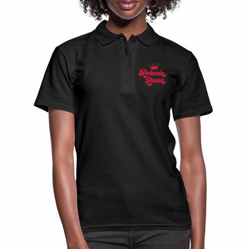 Rotwein Queen - Frauen Polo Shirt