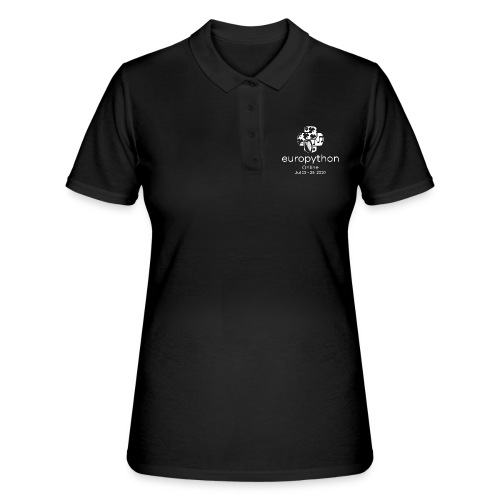 EuroPython 2020 - Vertical White Logo - Women's Polo Shirt