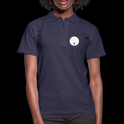 WSC Hipster-Logo rund weiß - Frauen Polo Shirt