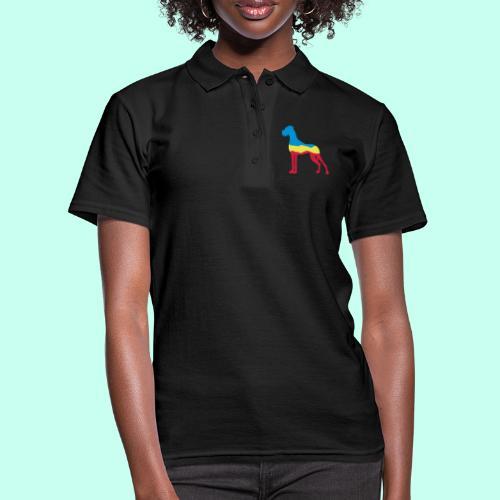 Flaggen Dogge - Frauen Polo Shirt