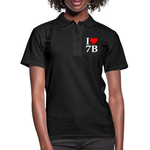 I love 7B weiss - Frauen Polo Shirt