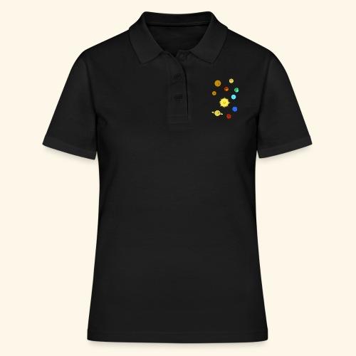 Solsystem svart - Women's Polo Shirt