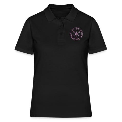 Dive o clock Pink - Women's Polo Shirt