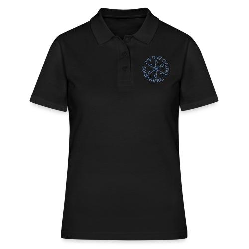 diveoclocklogolblue png - Women's Polo Shirt