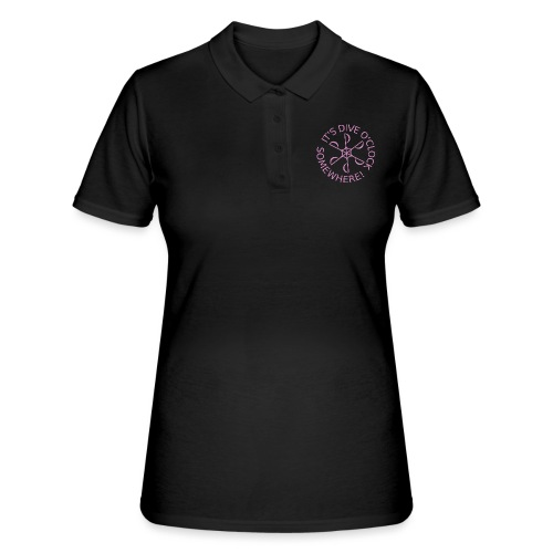 diveoclocklogodlpink png - Women's Polo Shirt