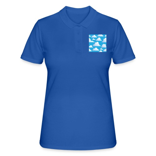 Cartoon_Clouds - Women's Polo Shirt