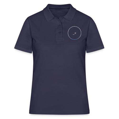 White and white-blue logo - Women's Polo Shirt