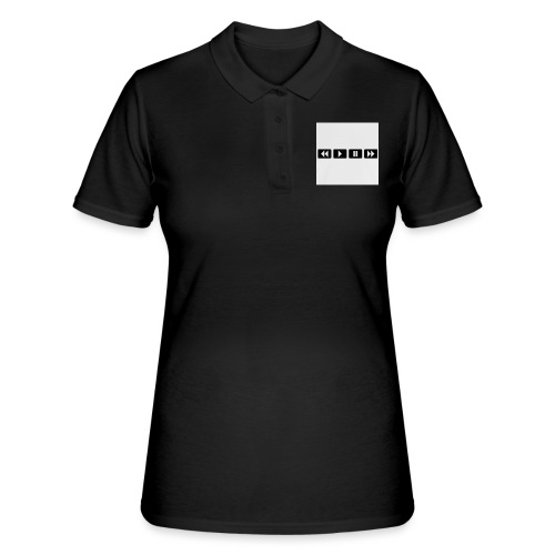 black-rewind-play-pause-forward-t-shirts_design - Women's Polo Shirt