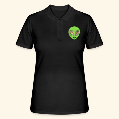 Alien hoofd 1 - Women's Polo Shirt