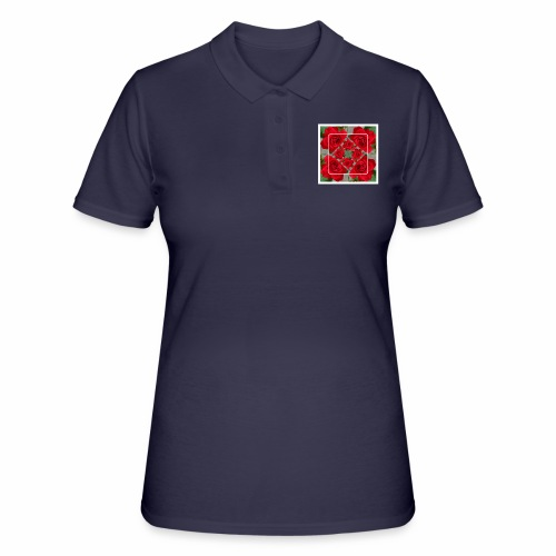 Rose Design - Frauen Polo Shirt