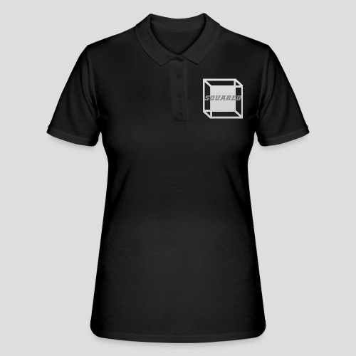 Squared Apparel Logo White / Gray - Women's Polo Shirt