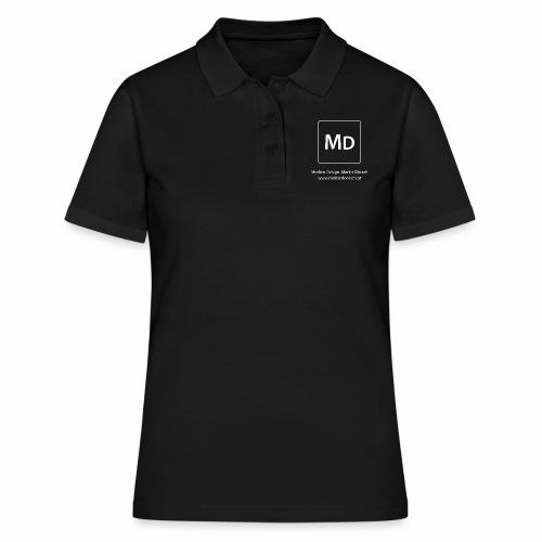 MD Logo - weiß - Frauen Polo Shirt