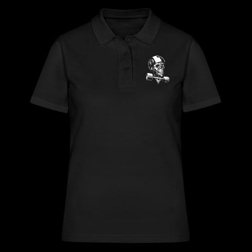 Skull Longboard Rider - negative print - Women's Polo Shirt