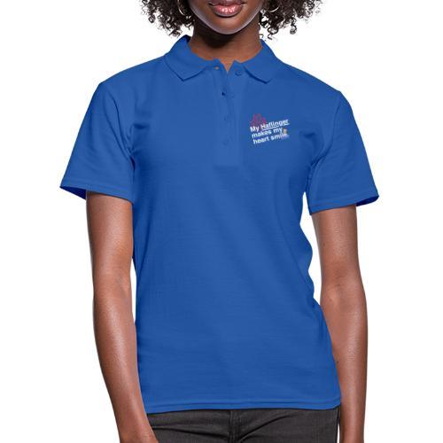 Haflinger Heart Smile - Blau - Frauen Polo Shirt