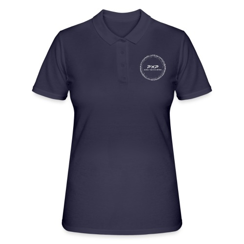 white logo transparent 2x - Women's Polo Shirt
