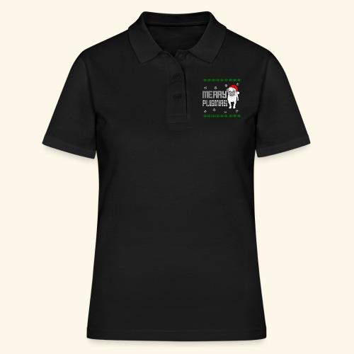 Weihnacht Mops Hund T-Shirt - ugly Christmas - Frauen Polo Shirt