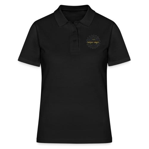 I am unique magic gold white mandala - Frauen Polo Shirt