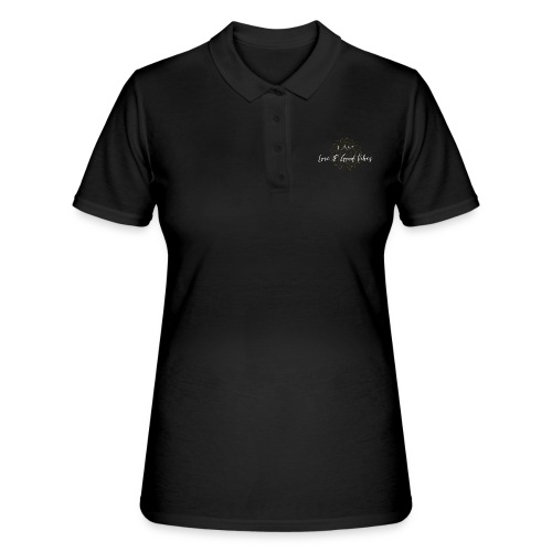 I am love and good vibes white gold - Frauen Polo Shirt