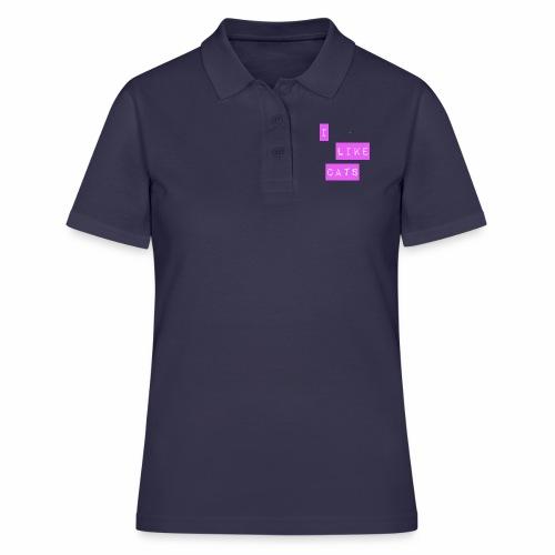 I like cats - Women's Polo Shirt