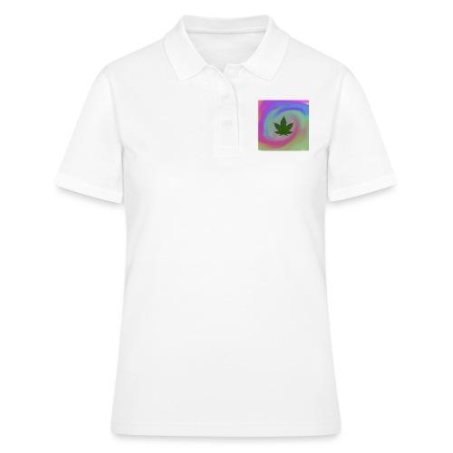 Hanfblatt auf bunten Hintergrund - Frauen Polo Shirt