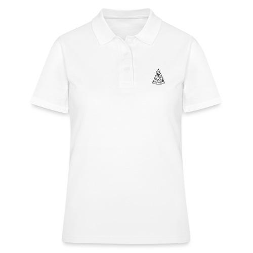 All sehendes Auge Pizza (weißer Druck) - Frauen Polo Shirt