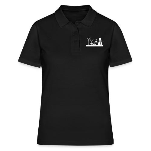 VEEN skyline white - Frauen Polo Shirt