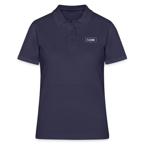Flexing Box (WHITE) - Women's Polo Shirt