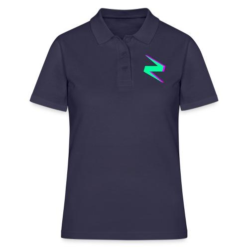 GREEN AND PURPLE CLAYZER LOGO - Women's Polo Shirt