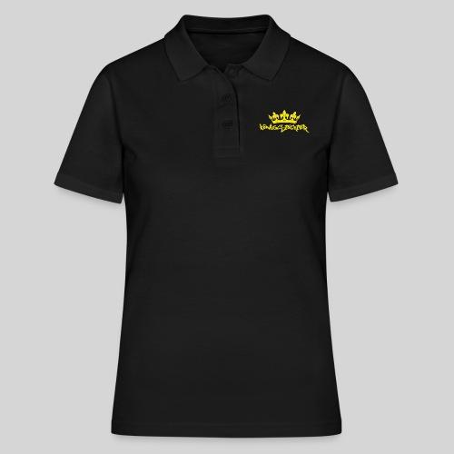 Königstochter m. Krone über der stylischen Schrift - Frauen Polo Shirt