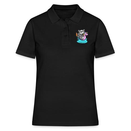 Panda mit Einhorn Schwimmreifen - Frauen Polo Shirt