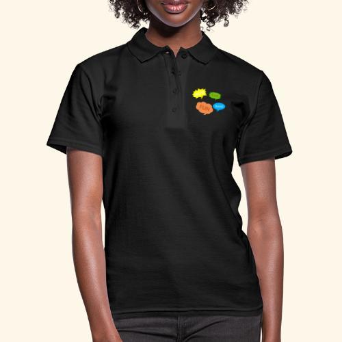 Sprechblasen Wow Cool Fun Social - Frauen Polo Shirt