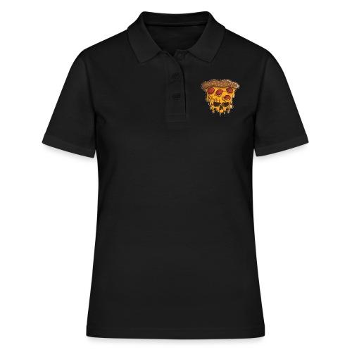 Zombie Halloween Pizza Skull - Frauen Polo Shirt
