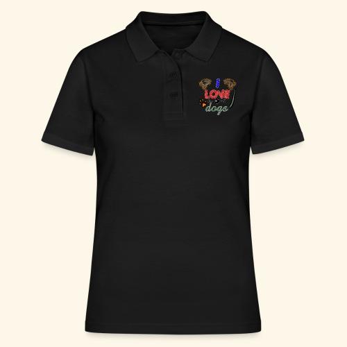 I love dogs - Frauen Polo Shirt