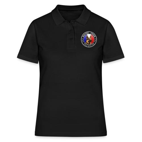 Ecusson rond noir Maitre-Chien Berger allemand - Women's Polo Shirt