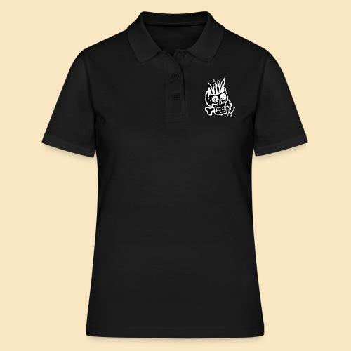 Painterskull black and white - Frauen Polo Shirt
