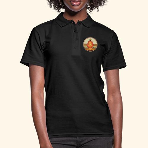 Lion and Bee Löwe und Biene Retro Kreis - Frauen Polo Shirt