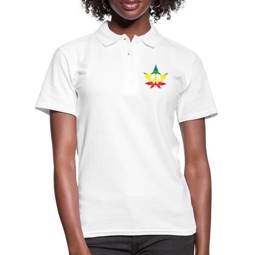 Peace färbig - Frauen Polo Shirt