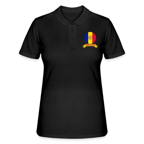 flag of andorra t shirt design banner ribbon - Women's Polo Shirt